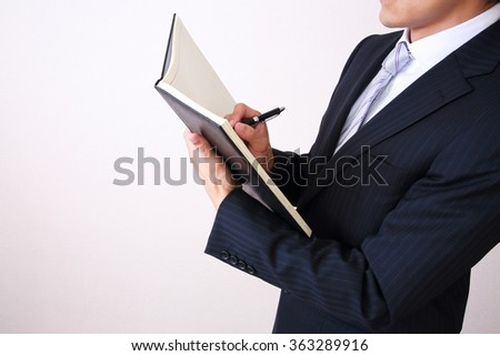 young asian businessman on white background