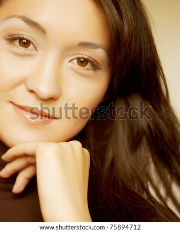 young asian girl - stock photo