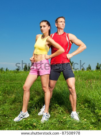 Young athletic Couple