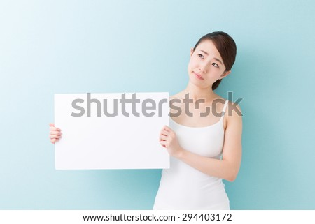 young attractive asian woman beauty image - stock photo