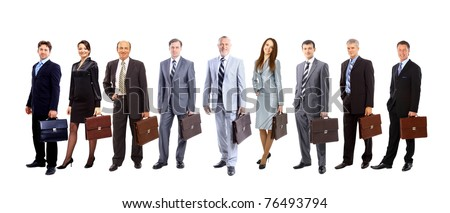 Young attractive business people - the elite business team - stock photo