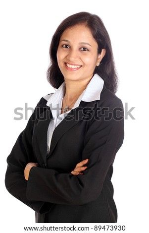 Young attractive business woman - stock photo