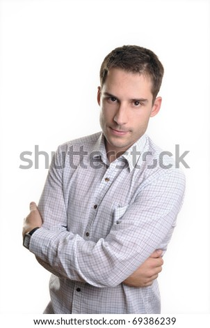 Young attractive businessman - stock photo