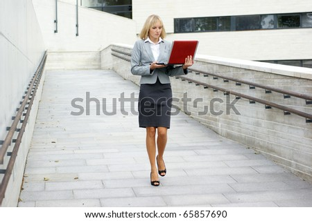 Young attractive businesswoman - stock photo