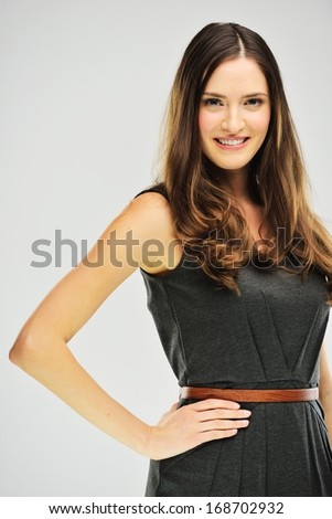 Young attractive female model posing - stock photo