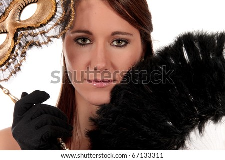 Young attractive glamor woman attending ,  studio shot.