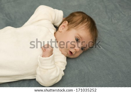 young baby portrait, studio picture