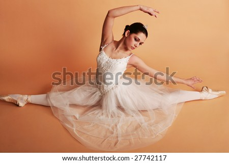 Young ballerina in ballet pose - stock photo