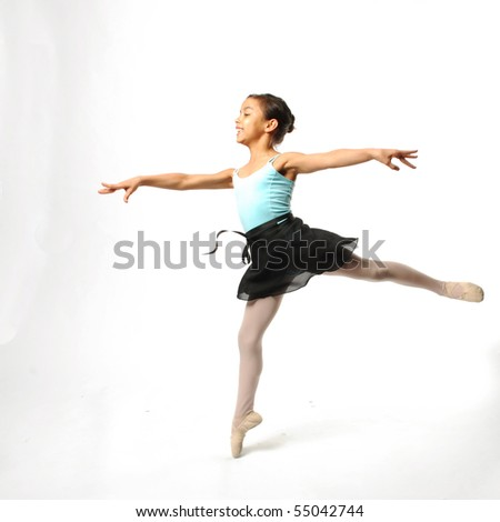 Young Ballerina Posing - stock photo