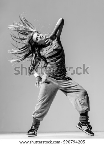 Young Beautiful Dancer Posing Studio Stock Photo Royalty Free 590794205