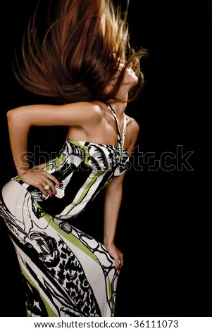 young beautiful fashion woman,studio shoot