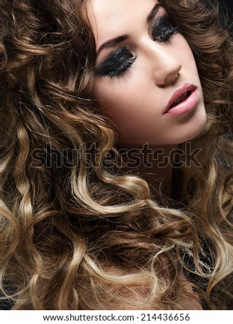 Young beautiful girl with hairstyle