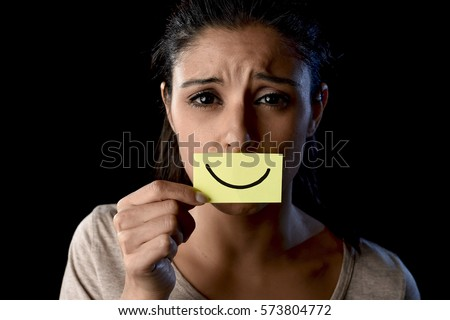 Infographic Ideas depression infographics in spanish : Young Beautiful Scared Spanish Woman Shock Stock Photo 573801922 ...