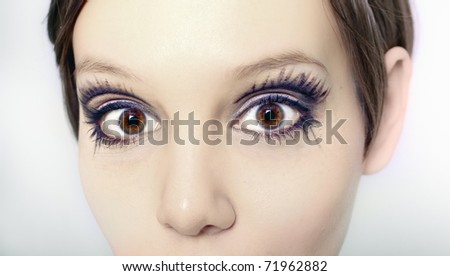 young beautiful woman  close-up portrait photo - stock photo