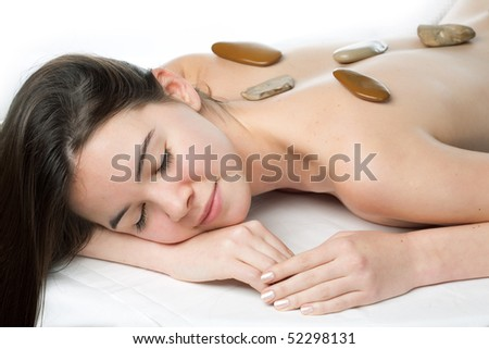 young beautiful woman in a spa - stock photo