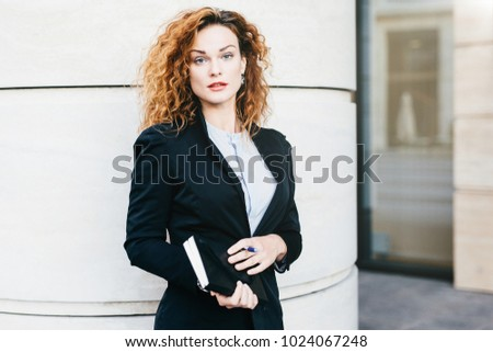 Young Beautiful Woman Wearing Formal Clothes Stock Photo Royalty