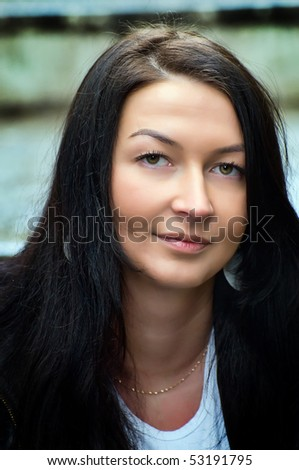 Young beautiful woman with brown eyes