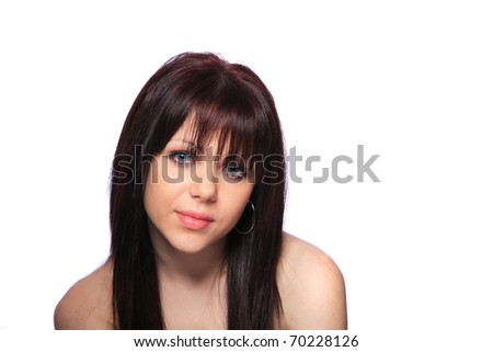 young beautiful woman with creativity hairstyle