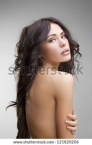 young beautiful woman with perfect skin