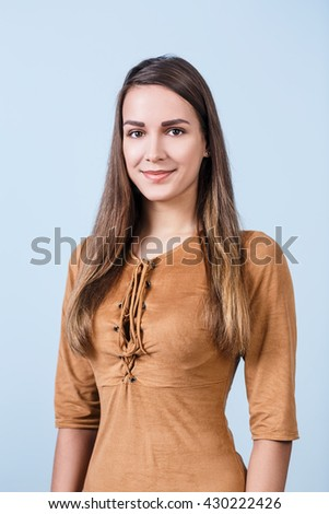 Young  beautiful woman with smile - stock photo
