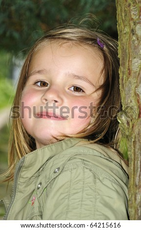 Young beauty outdoor portrait - stock photo