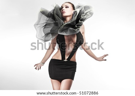 Young beauty posing - stock photo