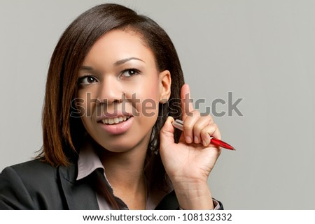 Young black businesswoman having an idea