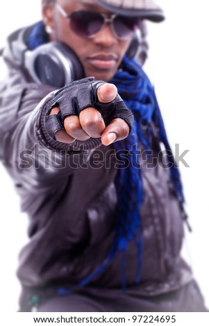young black men dancing - stock photo