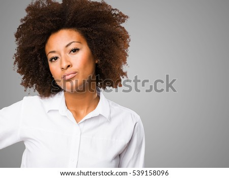 young black woman posing