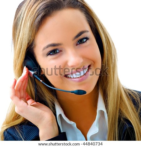 young blond assistant - stock photo