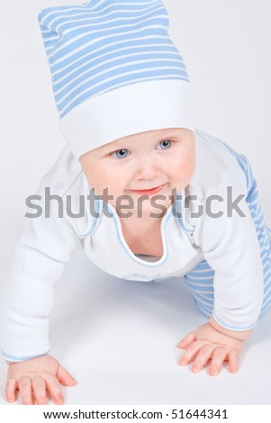 Young boy on floor