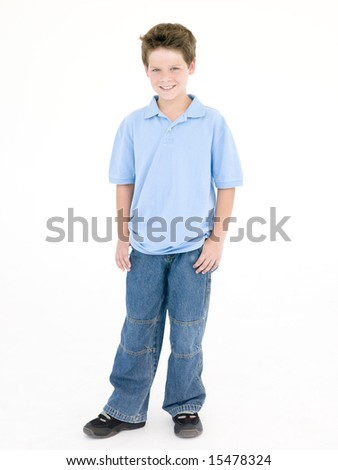 Young boy smiling - stock photo