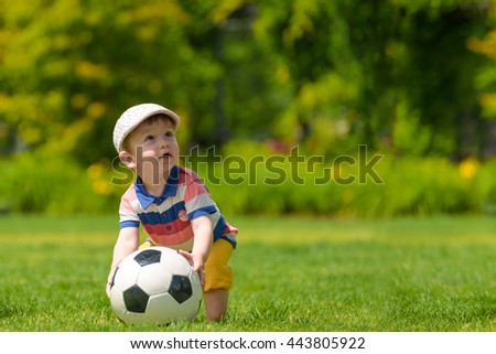 Young boy want to play football