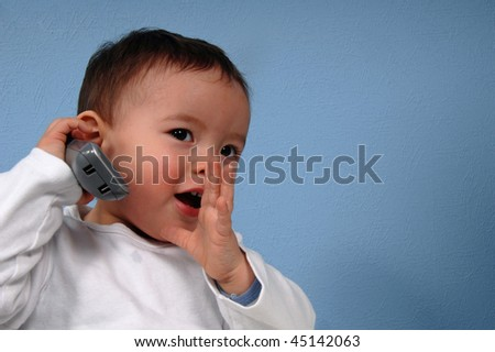 Young Boy with cellphone