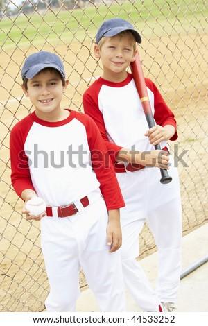 Young Boys Playing Baseball - stock photo