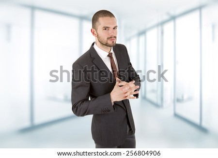 young business man portrait at the office - stock photo
