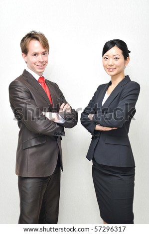 young business team - stock photo