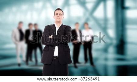 Young business team at the office - stock photo
