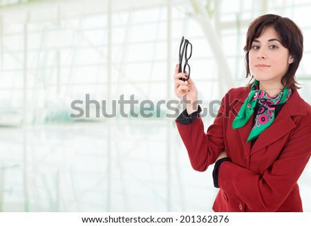 young business woman portrait at the office - stock photo