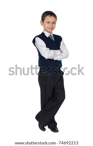 young businessman boy isolated - stock photo