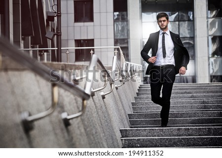young businessman go to work