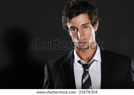 Young Businessman in Suit and Tie - stock photo