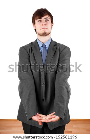 Young businessman in thinking