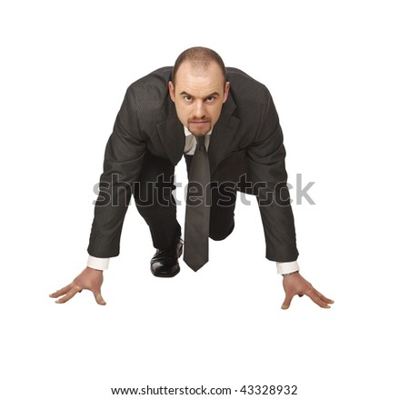 young businessman is ready for new challenge - stock photo