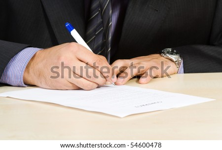 Young businessman isolate on white - stock photo