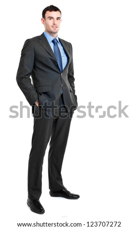 Young businessman portrait full length - stock photo