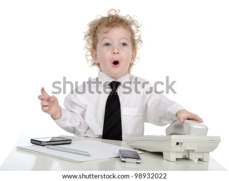 young businessman shock expression. isolated on white background - stock photo