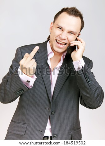 Young businessman, very saucy. - stock photo
