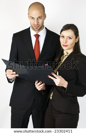 Young Businessman with Assistant