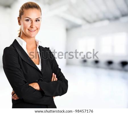 Young businesswoman portrait - stock photo